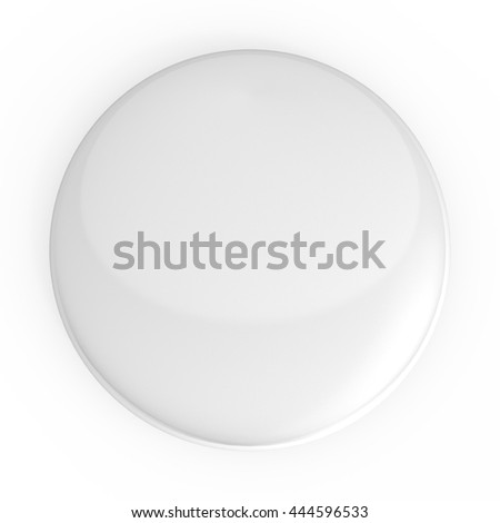 White blank badge. 3D icon isolated on white background