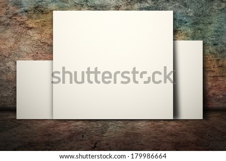White blank board on wall with nobody.