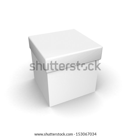 white blank box isolated over white background  - stock photo