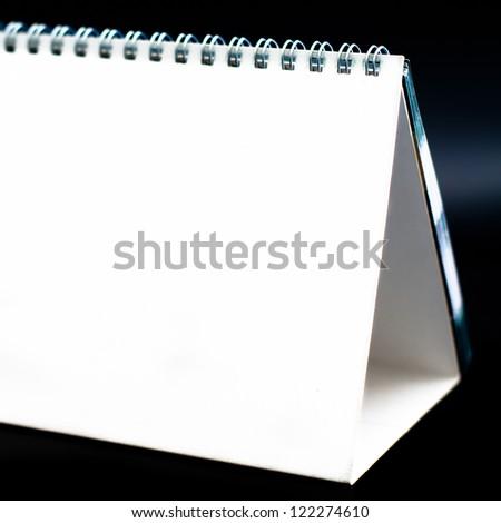 White blank calendar organizer - stock photo