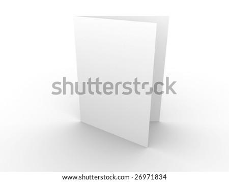 White blank card - stock photo