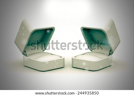 White blank gift box for rings and other items - stock photo