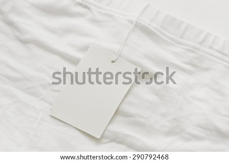 White blank label on white underware