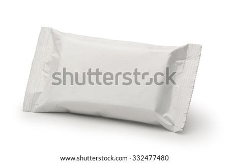 white blank little pack isolated - stock photo