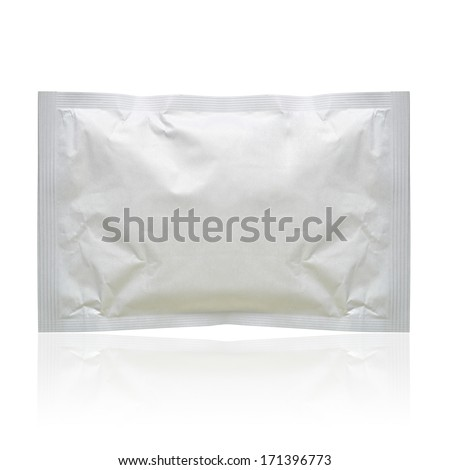 White blank pack isolated on white background