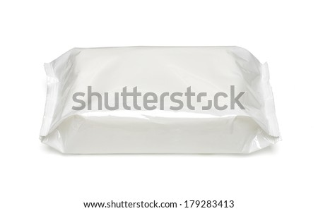 White blank package on white background including clipping path