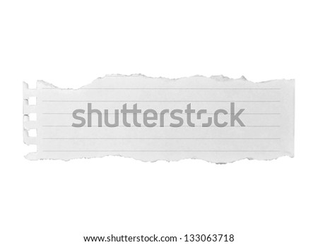 White blank paper isolate on white background - stock photo