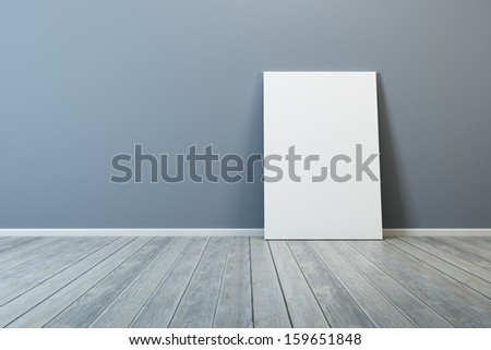 white blank picture in the room - stock photo