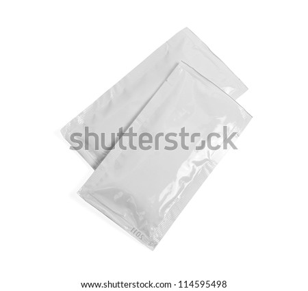 white blank plastic container. isolated on white - stock photo