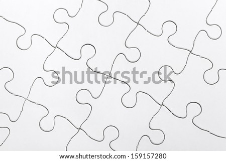 White Blank Puzzle, business concept