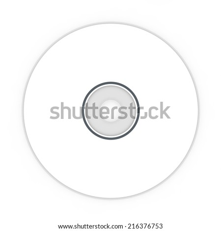 White blank sample CD. Isolated white background