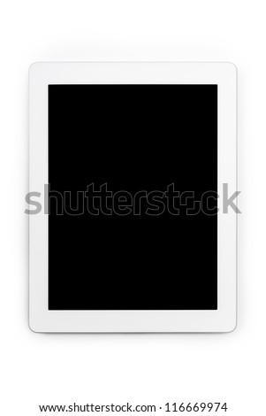 white blank tablet pc - stock photo