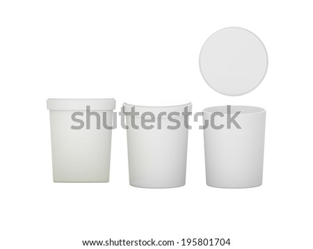 White blank Tub Foods - stock photo