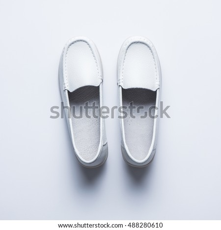 White Blank Women Shoes Mockup Stand Stock Photo (Edit Now ...