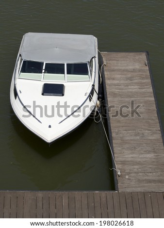 White Boat at the Dock