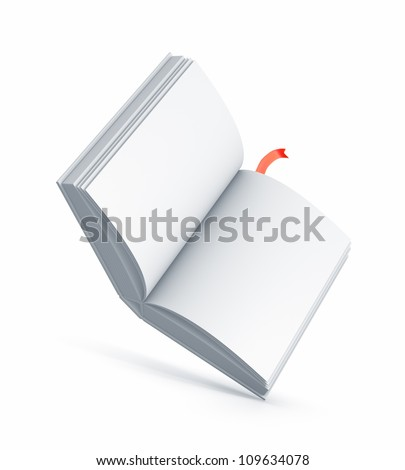 White Book. High resolution illustration isolated on white. - stock photo