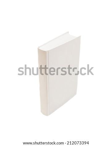 white book isolated on white  - stock photo