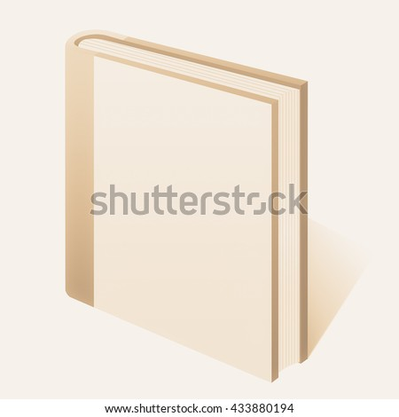 White book isolated on white background. - stock photo