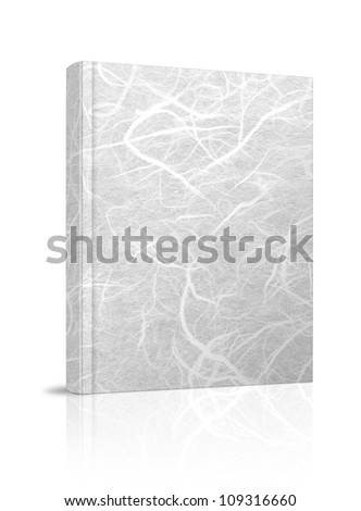 White book. Mulberry paper on white background.