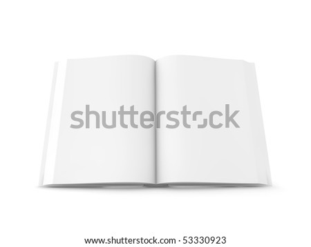 white book on isolated on white