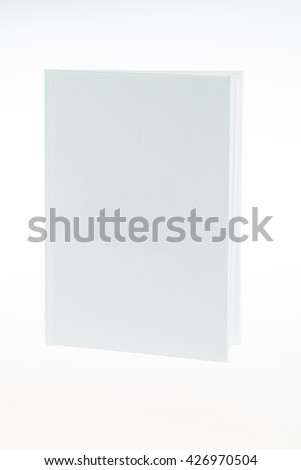white book on white background