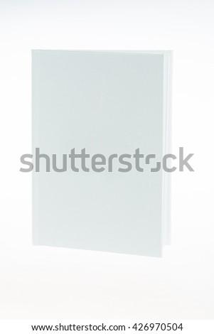 white book on white background - stock photo