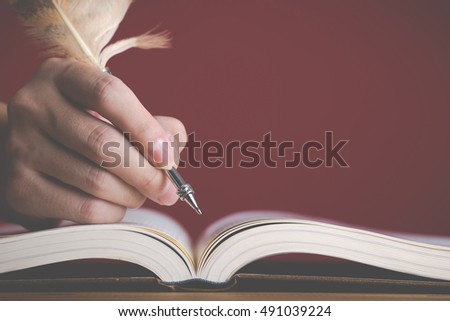 White book Red background