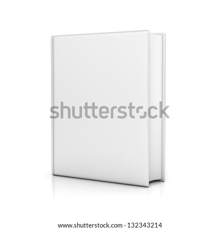white book with blank covers