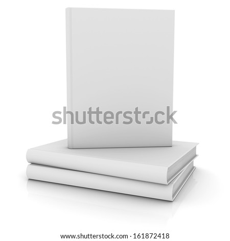 White books. Isolated render on a white background - stock photo