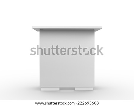 white booth or table from fromt