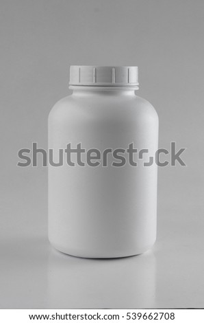 White bottle container on white background. A multipurpose bottle container use to contain chemical or spice.