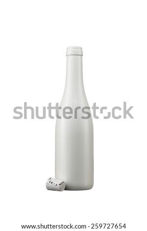 white bottle with cork - stock photo