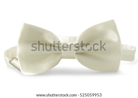 White bow Tie, isolated on white background