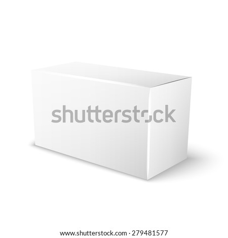 white box for your special design, isolated on a white background