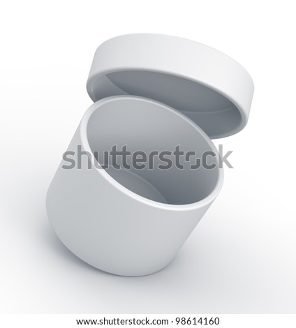 White box. High resolution 3D illustration with clipping paths. - stock photo