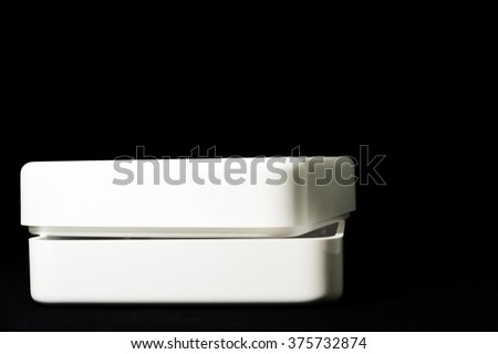 White box isolated black background