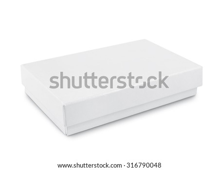 white box isolated on a white background - stock photo
