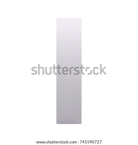 white box isolated on a white background. front view