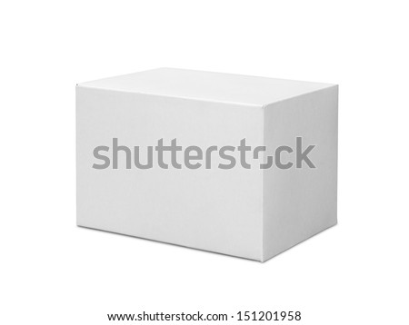 White box isolated on white background - stock photo