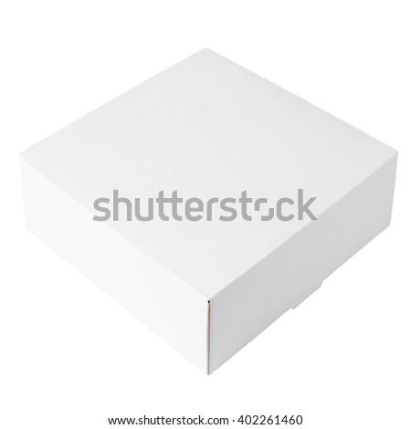 White box isolated on white background   - stock photo