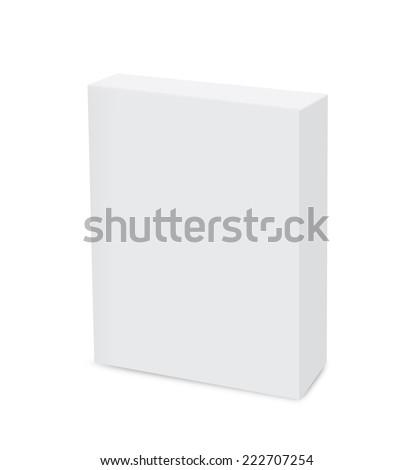 White box model is blank a logo - stock photo