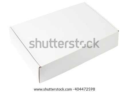 White box template isolated on white background  - stock photo