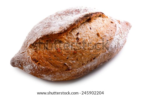 White bread isolated on white