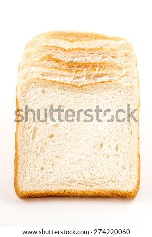 white bread isolated on white background