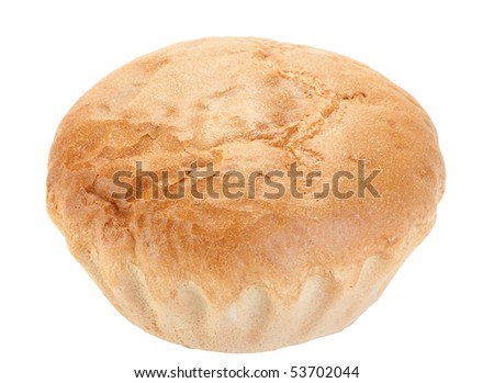 White bread loaf textured on white background