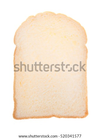 white bread, sliced bread isolated on white background