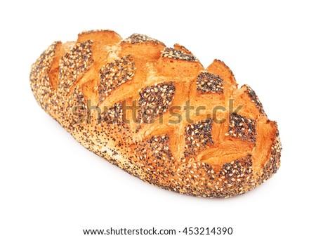 White Bread With Poppy - stock photo