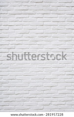 White brick texture background - stock photo