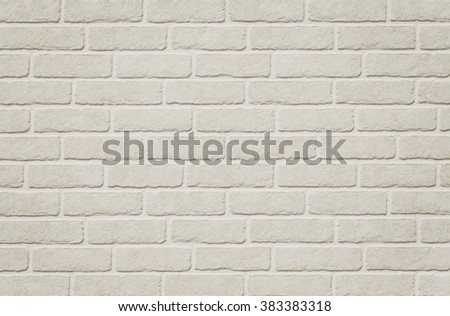 White brick tile wall seamless background and texture - stock photo