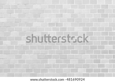 White brick tile wall seamless background and texture